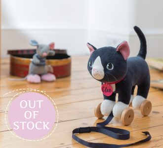 Cleo Cat | Pull Along Soft Toy from Ragtales Ltd