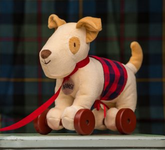 Hamish | Pull along Soft Toy Dog from Ragtales Ltd