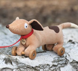 Wooster | Pull along Daschund Soft Toy from Ragtales Ltd